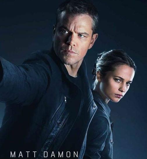Matt Damon and Alicia Vikander star in the new Jason Bourne movie.