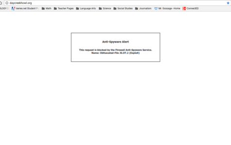 Website Crashes Due to Anti-Spyware Alert