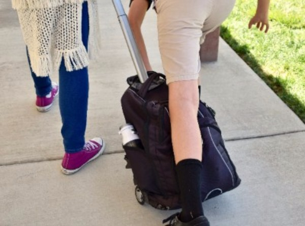 Tripping over rolling- backpacks is just one of the daily Day Creek events that upcoming sixth graders will grow to accept.
