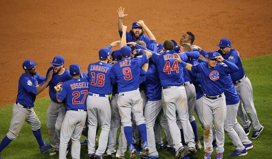 Cubs+players+celebrate+after+they+win+the+World+Series.