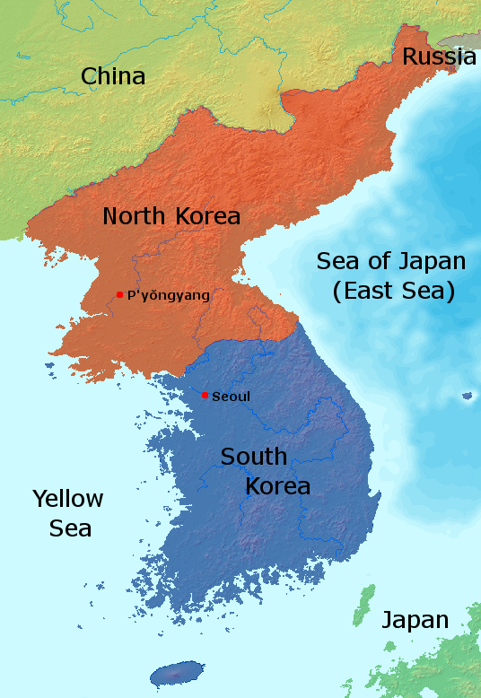 North+Korea+is+bordered+by+China%2C+Russia%2C+and+South+Korea.