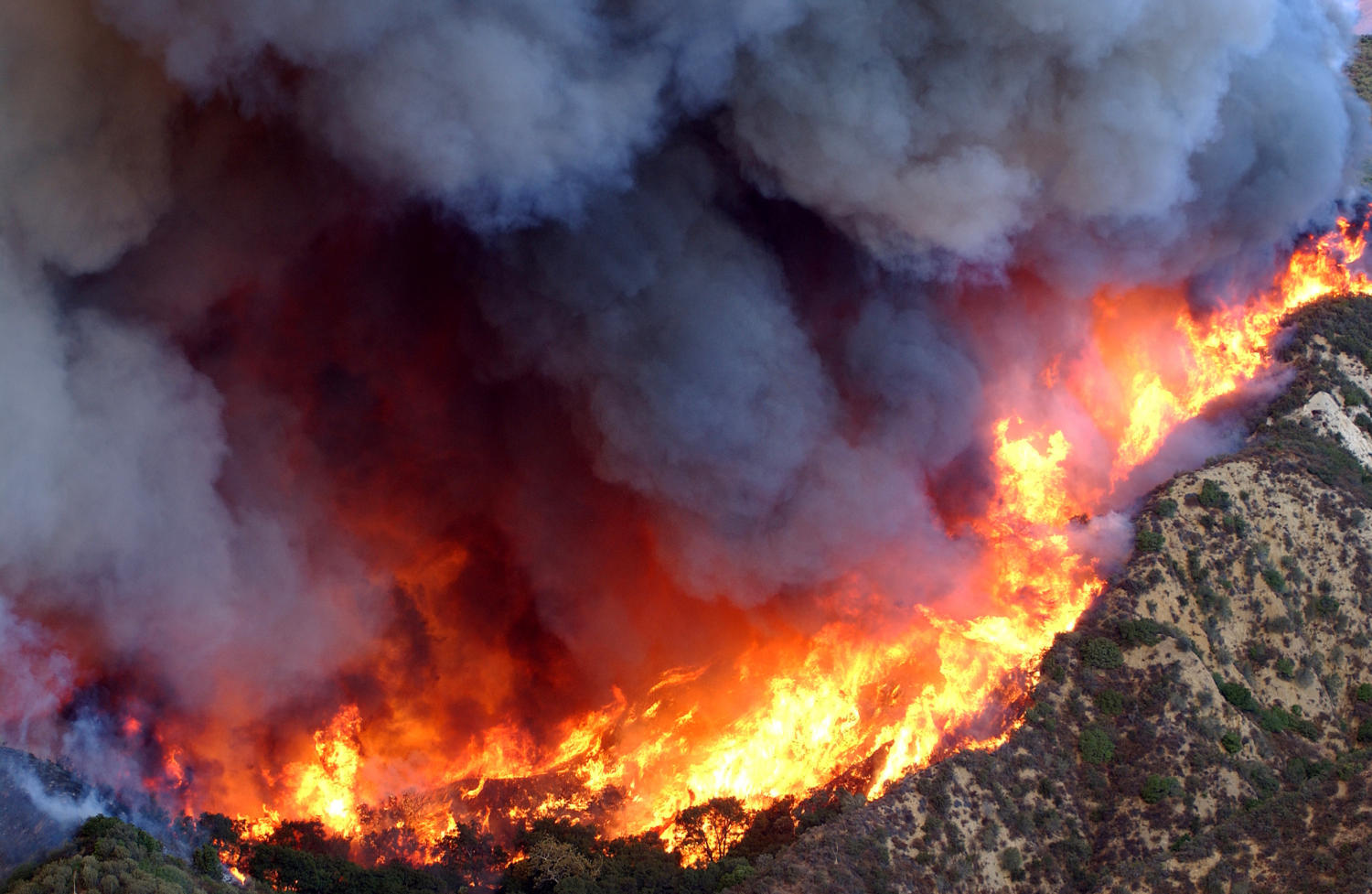 An image of a previous California wildfire.