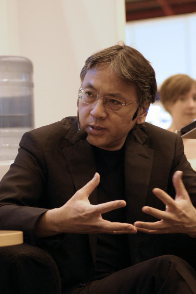 A picture of Kazuo Ishiguro, the nobel prize winner for literature.