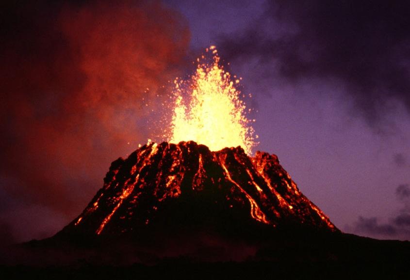 The+Kilauea+volcanic+eruption+in+1983.
