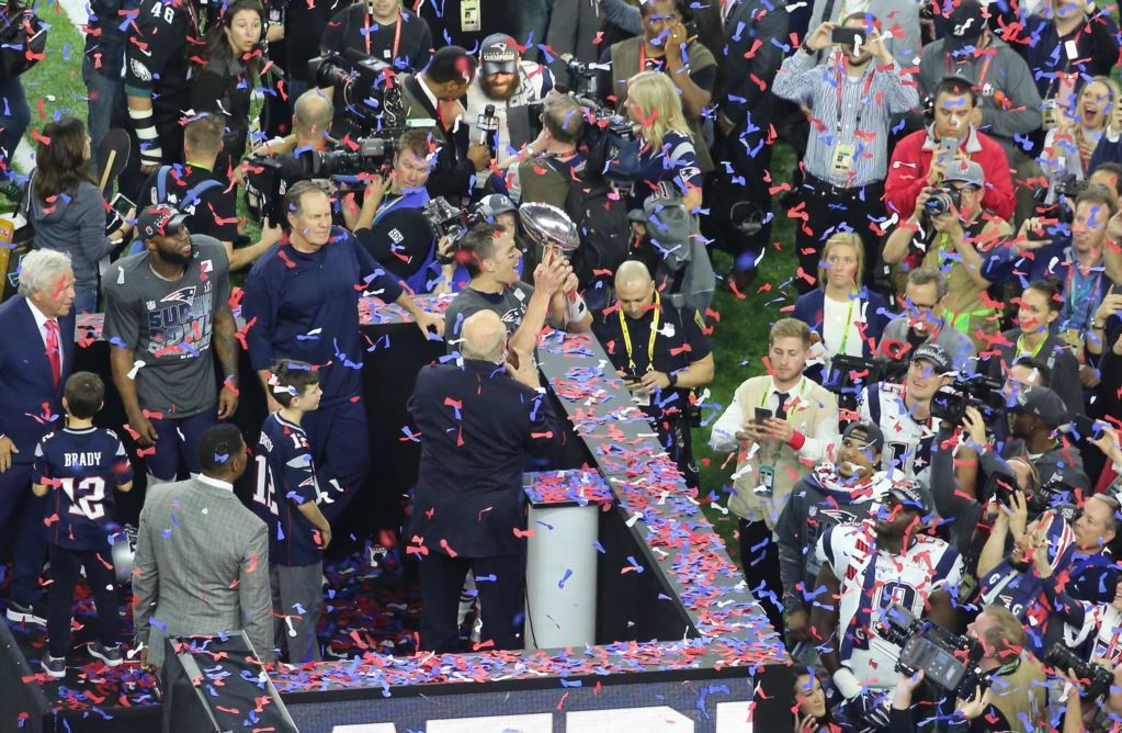 Tom Brady and the Patriots win Super Bowl  LIII.