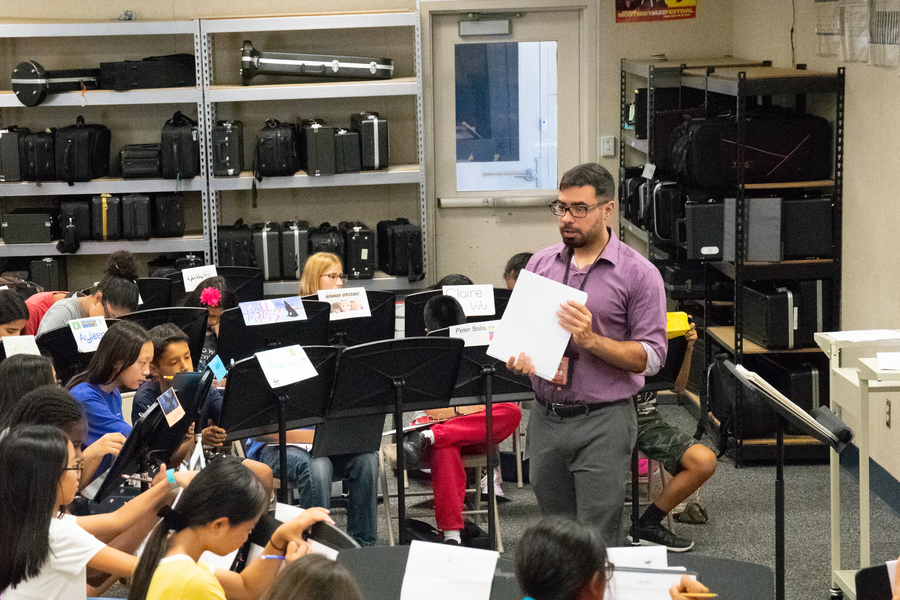 The new band teacher, Mr. Castellanos comes from different enviornments to fulfill his dream job.
