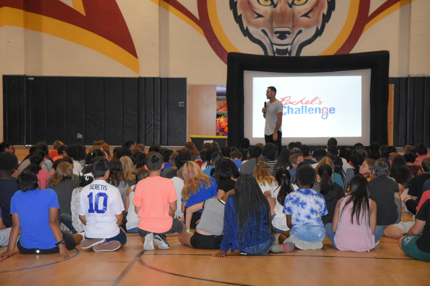 The Rachel's Challenge Assembly gave students here at DCIS a goal of being kind and looking for the best in others.