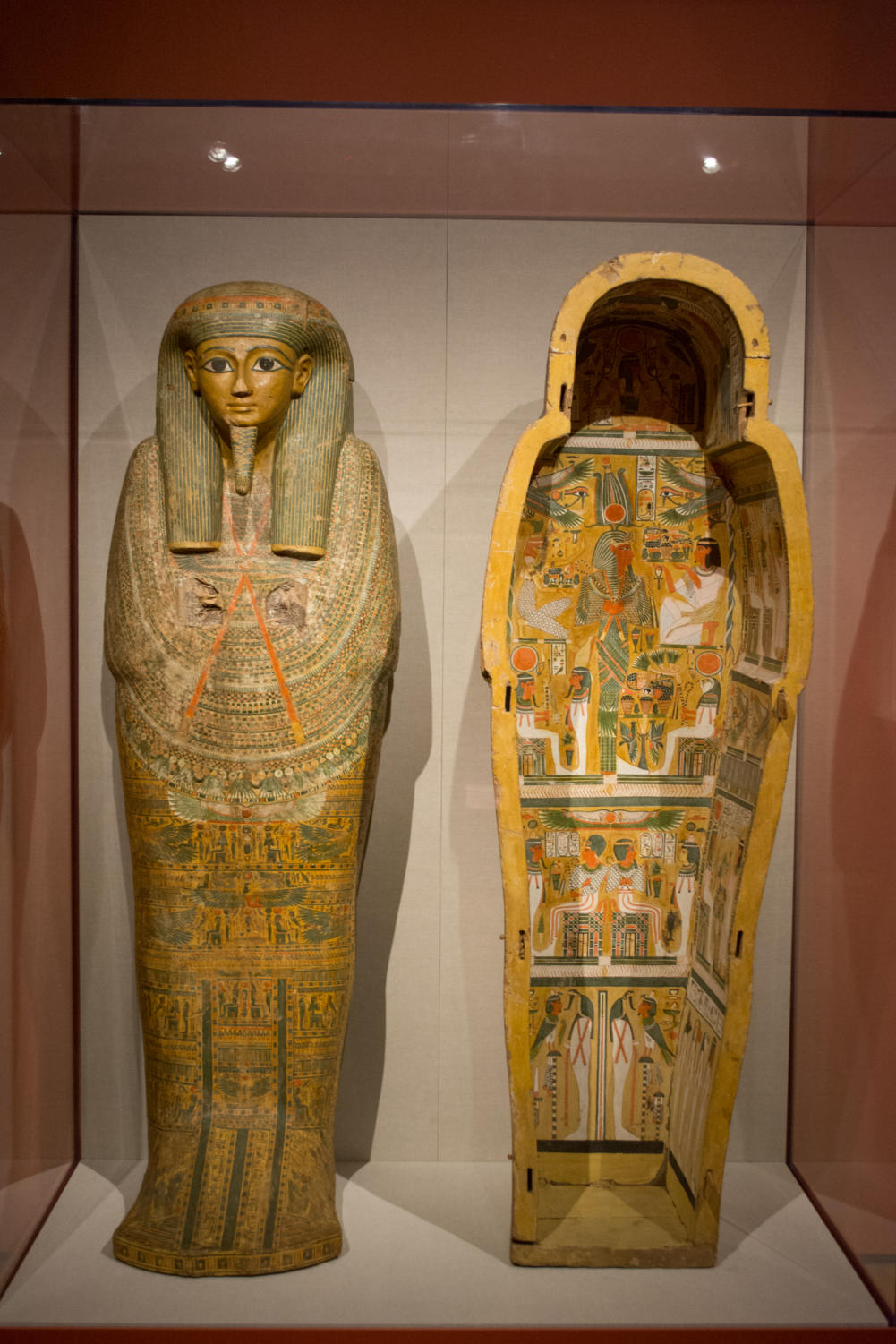 A preserved coffin