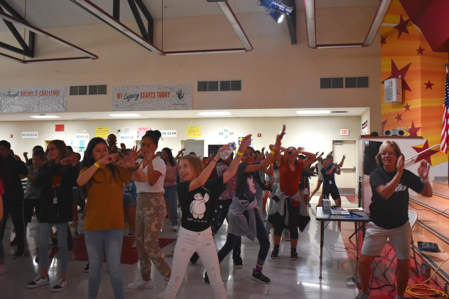 Students had so much dancing fun with their friends at the atten-dance.