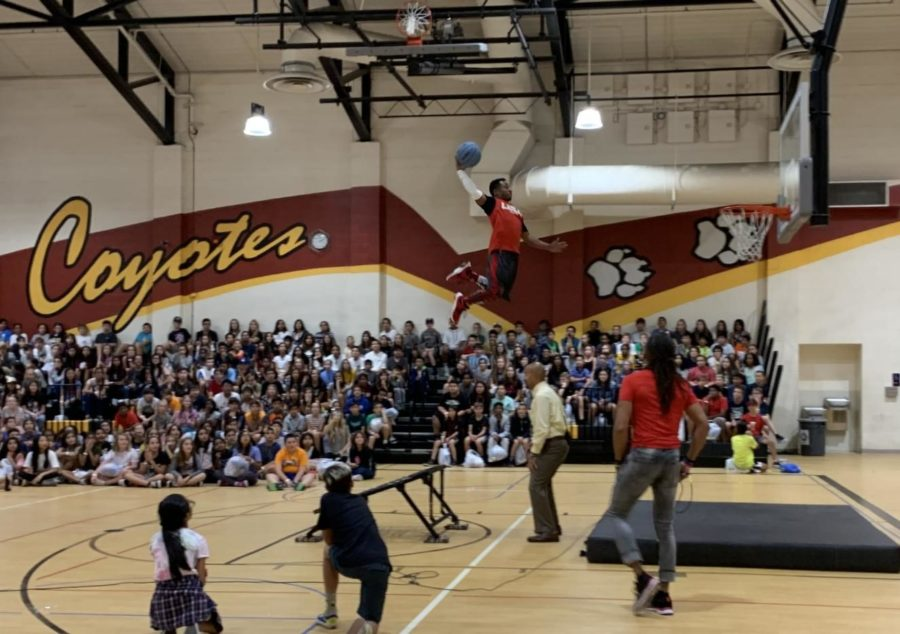 The USA Dunk Team put on an awesome show to the Day of Awesomeness.