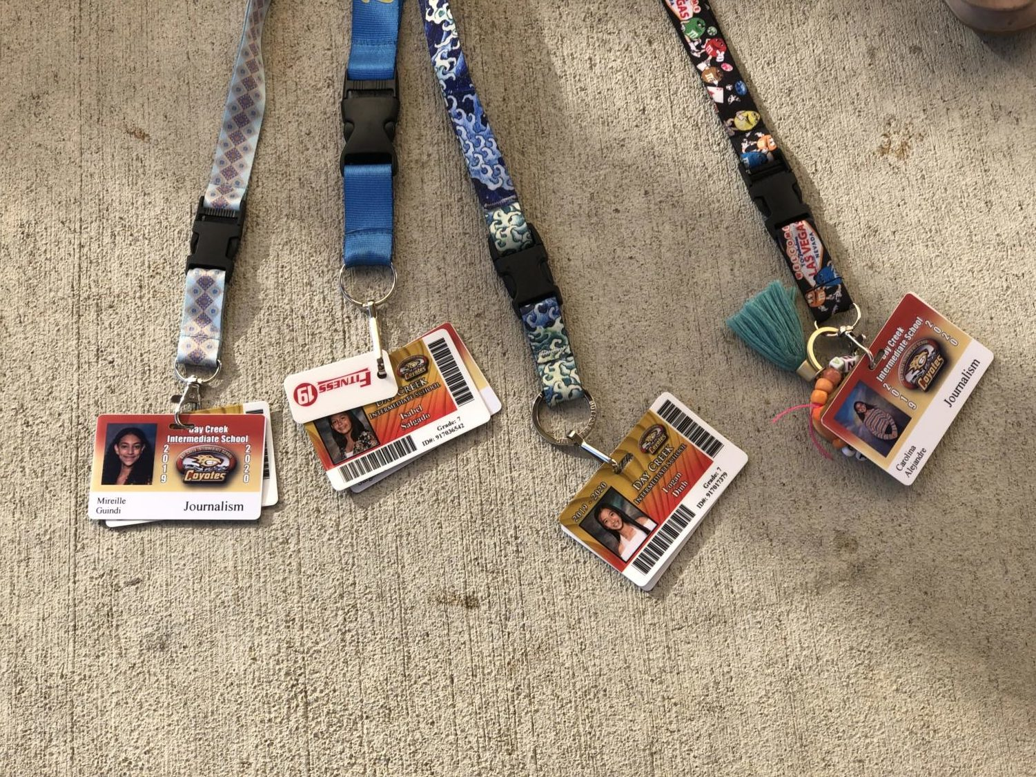 The lanyards have a purpose for safety and to reward the students for doing something courteous or generous.