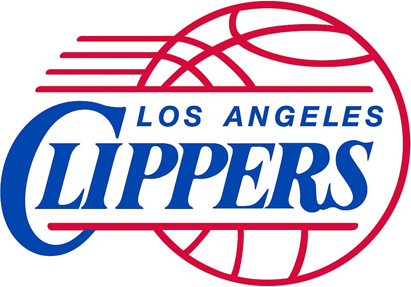 The+clippers+team+in+their+warm+up+suits+warming+up+for+a+game.
