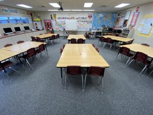 The halls at Day Creek Intermediate may be empty, but learning is still taking place despite the current situation.