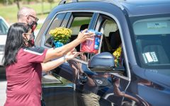 The August SOTM drive-thru was a way for teachers to see and honor their students while being safe.