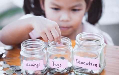 Parents should teach their children how to save and spend their money.