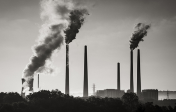 Factories are a big cause of greenhouse gas emissions.